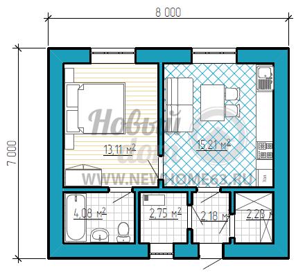 Проекты домов 8 на 8: варианты планировок и наружного дизайна