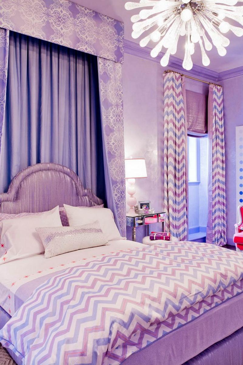 Сиреневые шторы в интерьере цвета (97 фото):оттенки, дизайн и рисунки