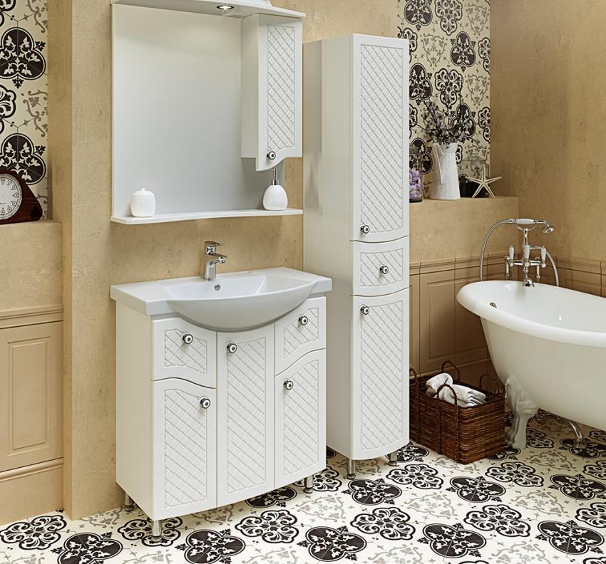Ванная комната в светлых тонах  — оформление стильного и практичного дизайна