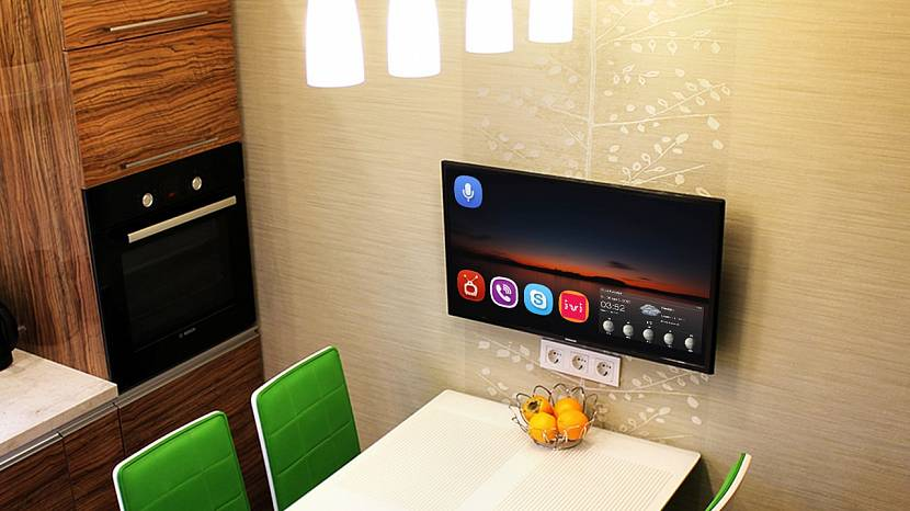 Размещение телевизора на кухне - правила установки | стройсоветы