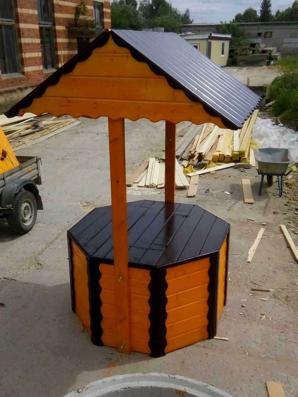 оформление колодца для воды на садовом участке