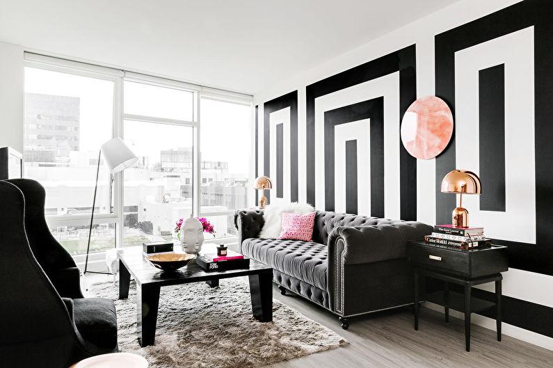 Черные обои в интерьере: 75 современных решений