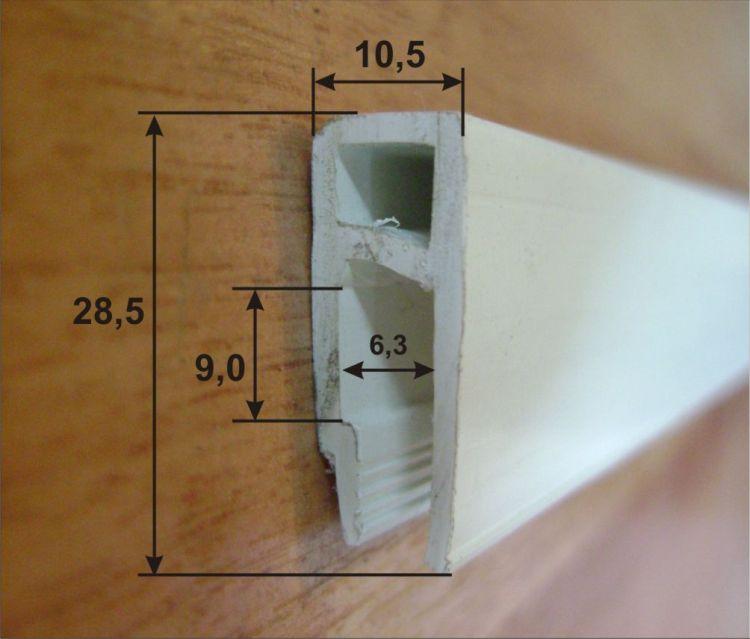 Крепление багета для натяжного потолка