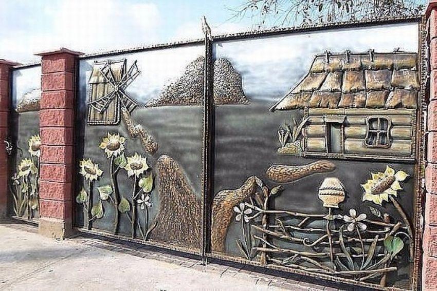 Ворота кованые: варианты красивых кованных ворот