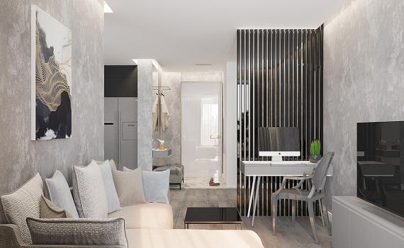75 функциональных идей дизайна двухкомнатной квартиры 50 кв.м.