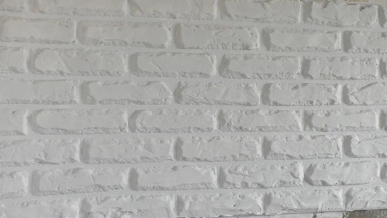 кирпичная стена своими руками из шпаклевки