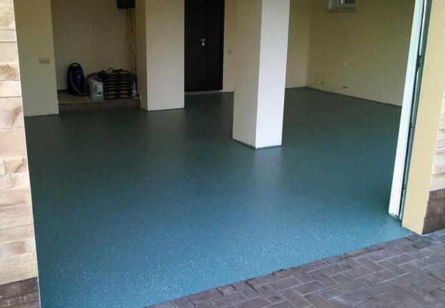 полимерное покрытие для бетонного пола в гараже