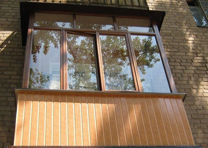 чем обшить балкон снаружи