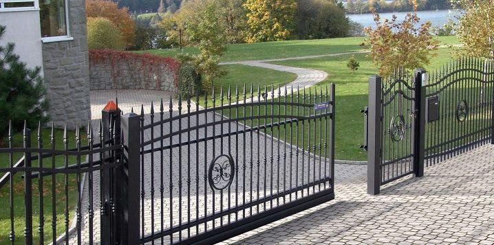 ⚒ откатные ворота своими руками: обзор вариантов, этапы работ