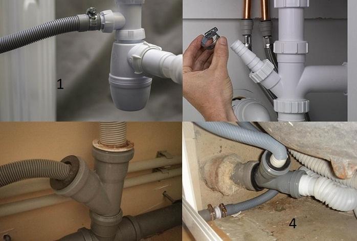 Подключение стиральной машины к канализации – как подключить слив правильно