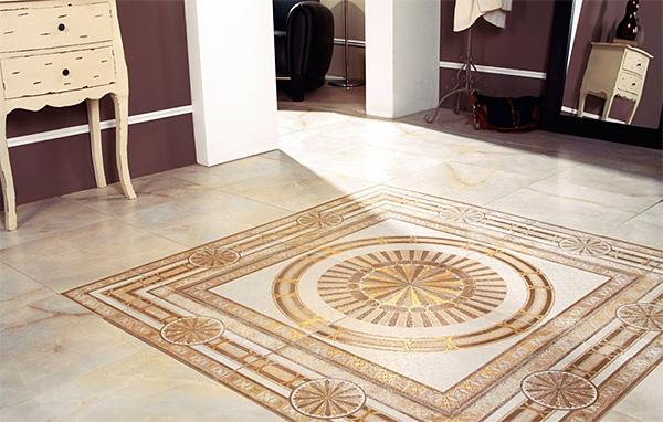 Использование напольной плитки с узором и орнаментом, дизайнерские советы по оформлению