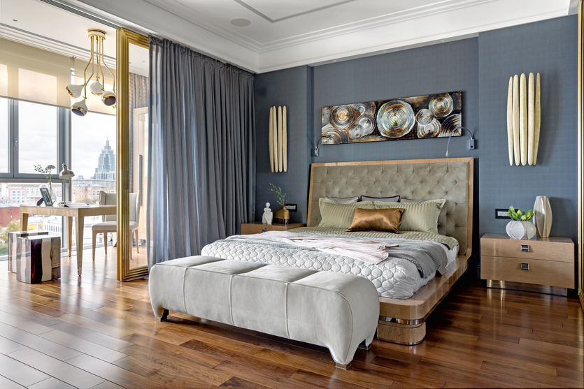 Дизайн узкой спальни: 75 идей грамотного оформления интерьера