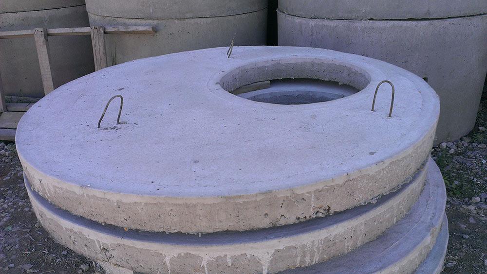 крышка на бетонное кольцо с люком