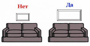 Оформление стены над диваном: 75 примеров декора на фото