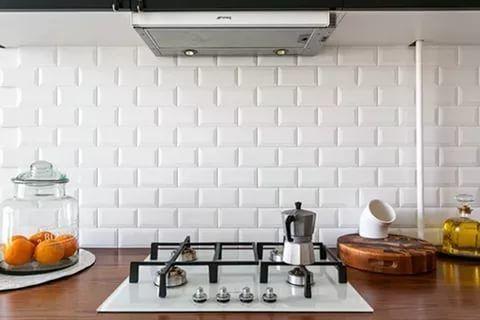 кухонный фартук под кирпич