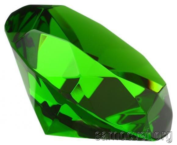 изумрудно зеленый