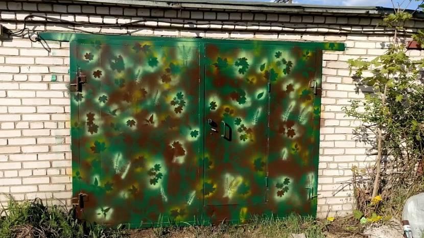 краска для ворот железных