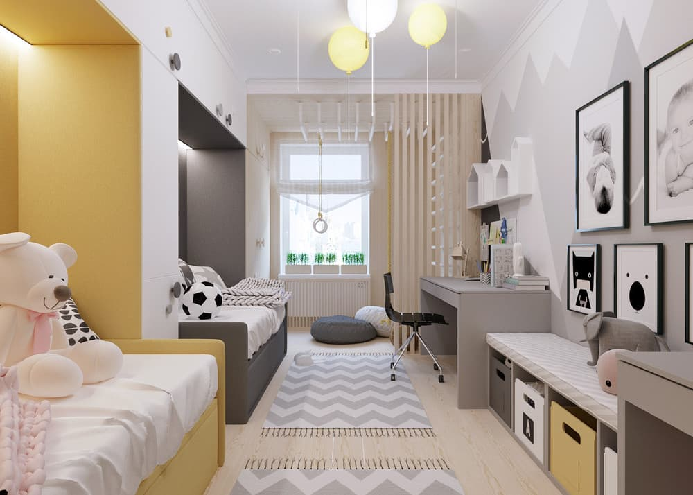 Маленькая детская комната: 105 фото способов стильно украсить дизайн детской