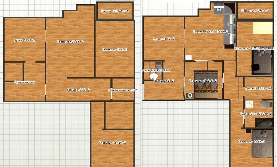Серия дома п-30- планировка квартир. всё о серии.