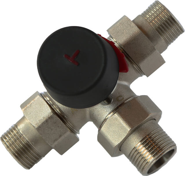 Как установить трехходовой клапан для теплого пола?