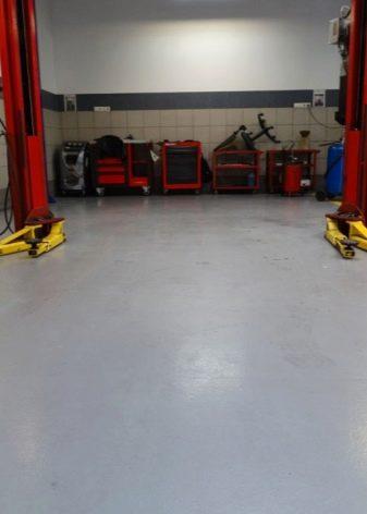 Полы в гараже: варианты из различных материалов