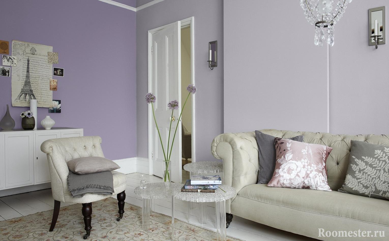 Фиолетовый цвет в интерьре: фото и идеи сочетания фиолетового цвета в интерьере