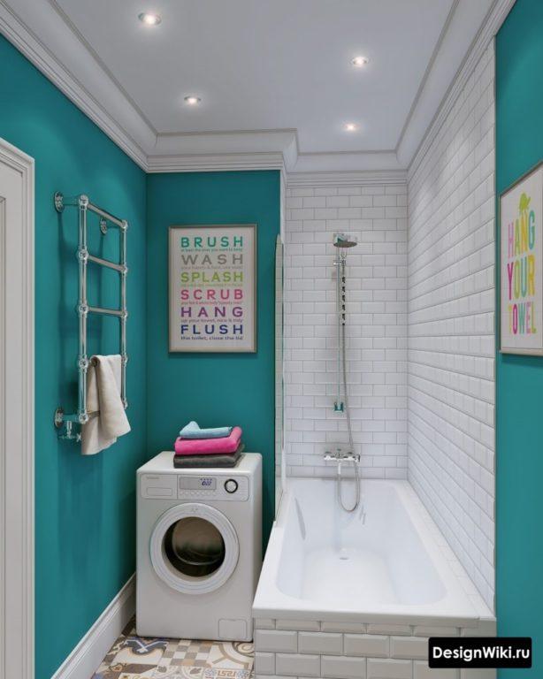 Дизайн ванной комнаты в хрущевке: 40 современных интересных идей