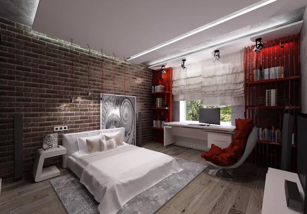 Оригинальная мужская спальня: дизайн и 5 цветовых решений