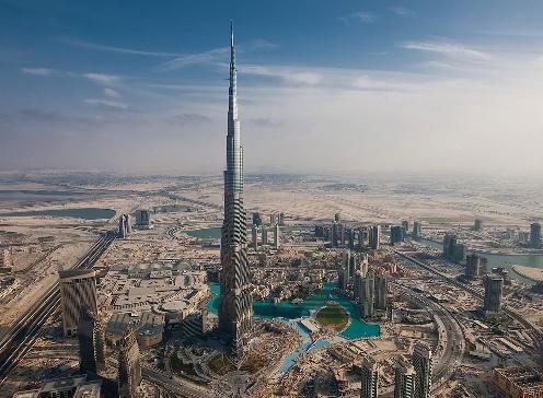 сколько метров бурдж халифа