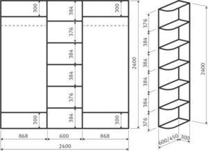 Какие бывают размеры шкафов-купе