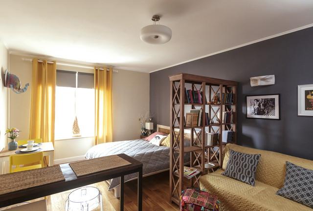 гостиная с рабочим местом дизайн