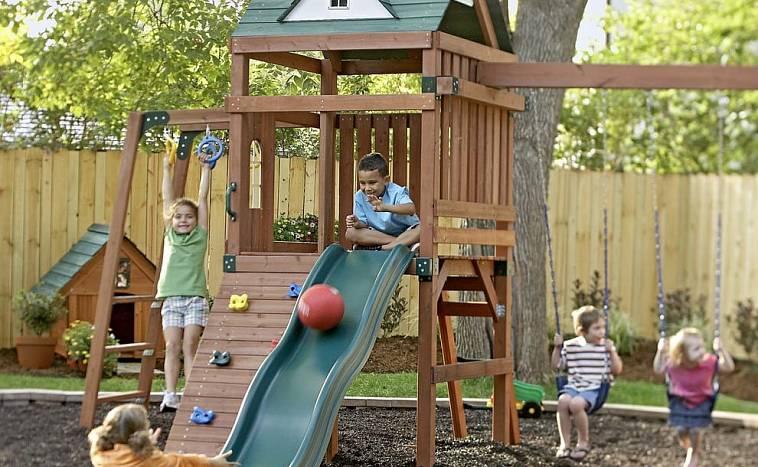 Детская площадка своими руками +75 фото примеров для дачи