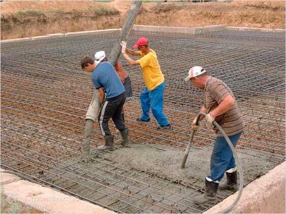 Заливка бетона: мастер-класс с пошаговыми фото | строй советы