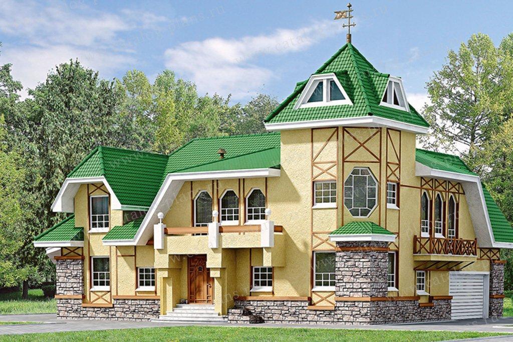 Загородный дом в замковом стиле в посёлке воейково