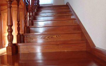 как покрасить лестницу из дерева