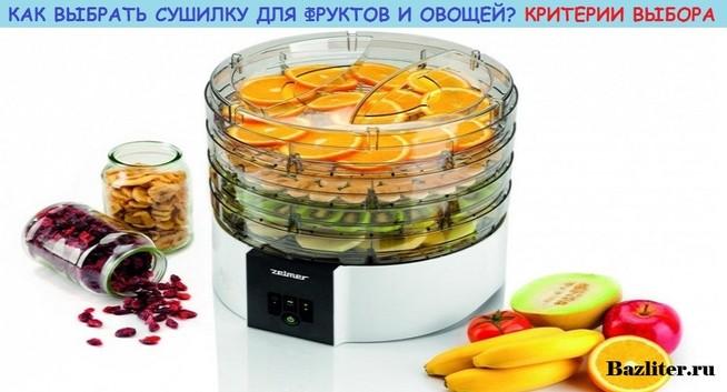 сушилка для ягод и фруктов