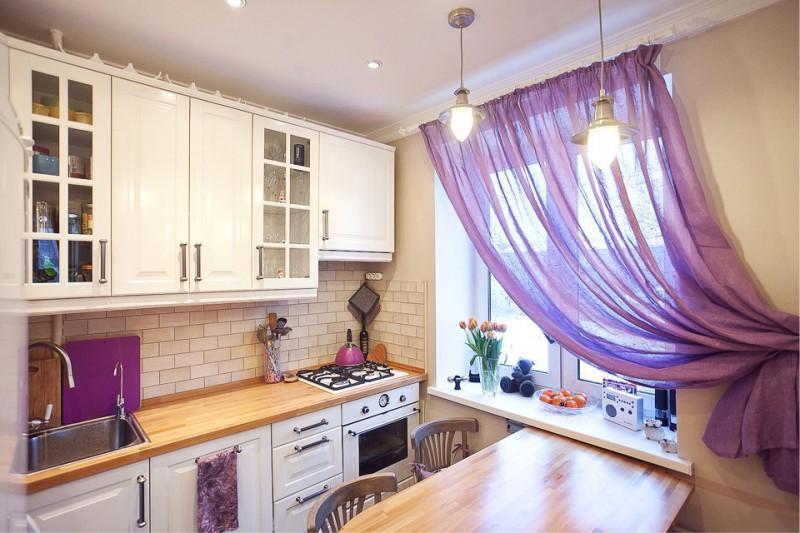 шторы под белую кухню фото