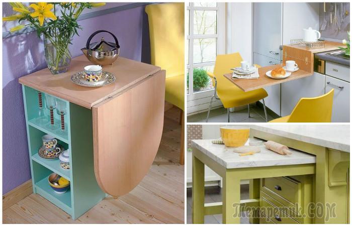 Стол для маленькой кухни: топ-120 фото вариантов столов для маленькой кухни. особенности выбора формы стола. варианты барной стойки. материалы для кухонных столов. цветовые решения