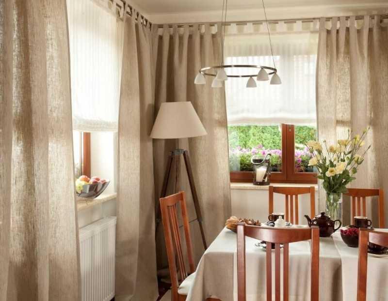 стильные шторы для кухни фото новинки