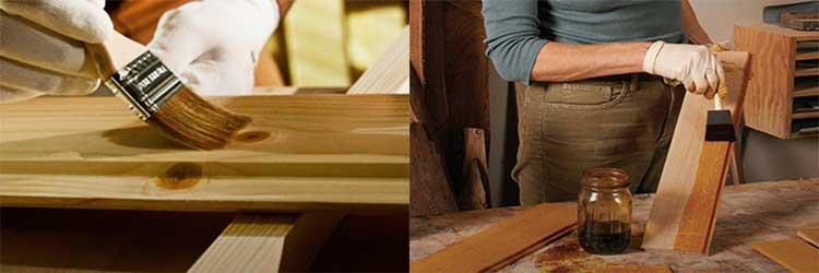 Чем покрасить деревянный стол