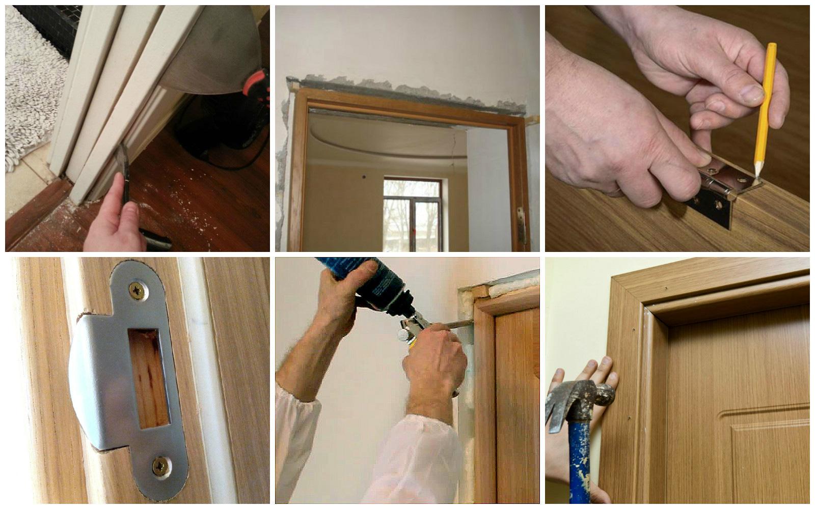 как установить дверную коробку межкомнатной двери