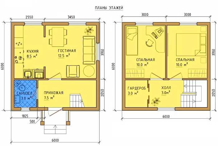 12 лучших проектов каркасных домов