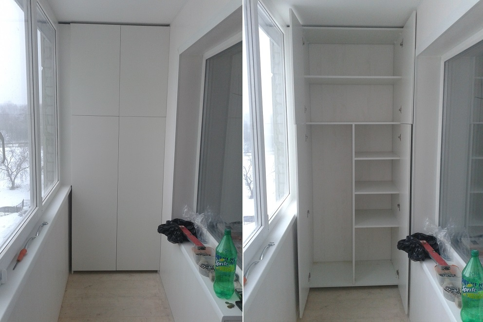 Шкаф на лоджию и балкон своими руками +100 фото идей и примеров