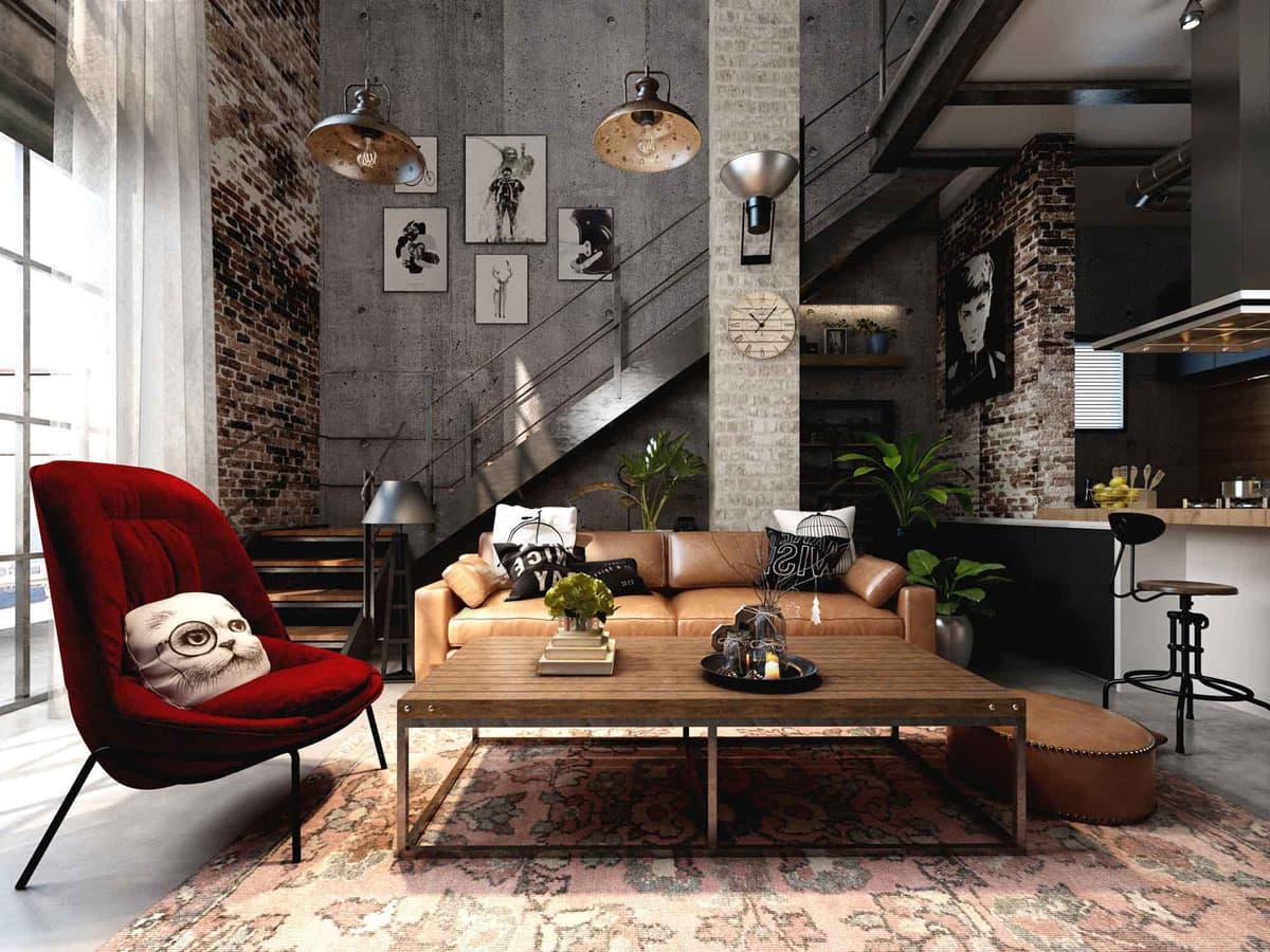 Потолки в стиле лофт – обзор отделки и декора