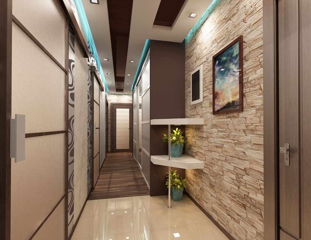 Дизайн коридора в квартире цветовое решение, выбор стеновых и напольных покрытий