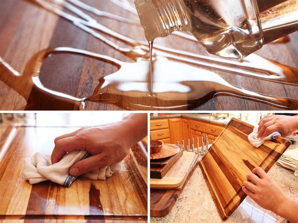 Масло для разделочных досок: чем пропитывать новую поверхность из дерева? как правильно покрыть маслом деревянную доску?