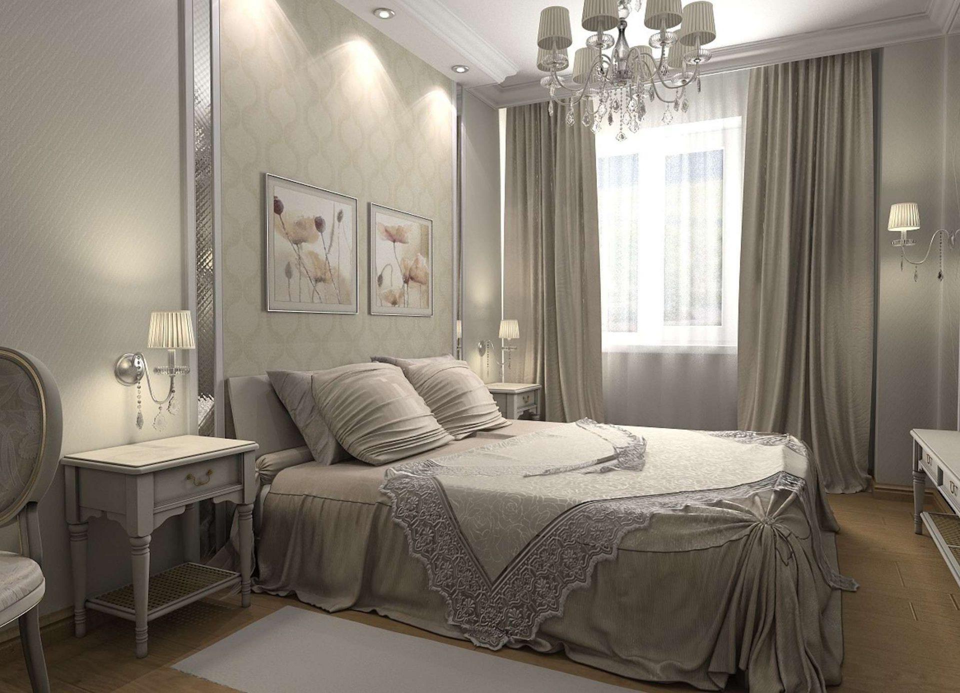 люстры в интерьере спальни