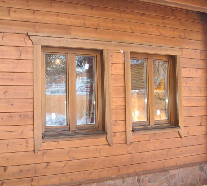 обналичка на окна в деревянном доме