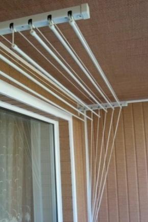виды сушилок для белья на балкон