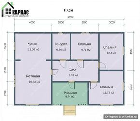 план 1 этажного дома